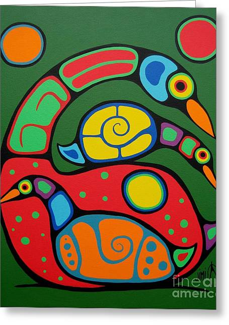 Native Art Greeting Cards - You can do it Greeting Card by Jim Oskineegish