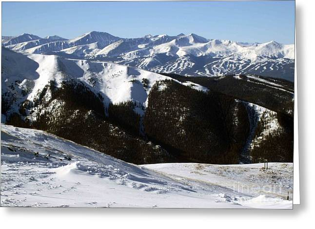 Skiing Prints Greeting Cards - You Can See Forever Greeting Card by Fiona Kennard