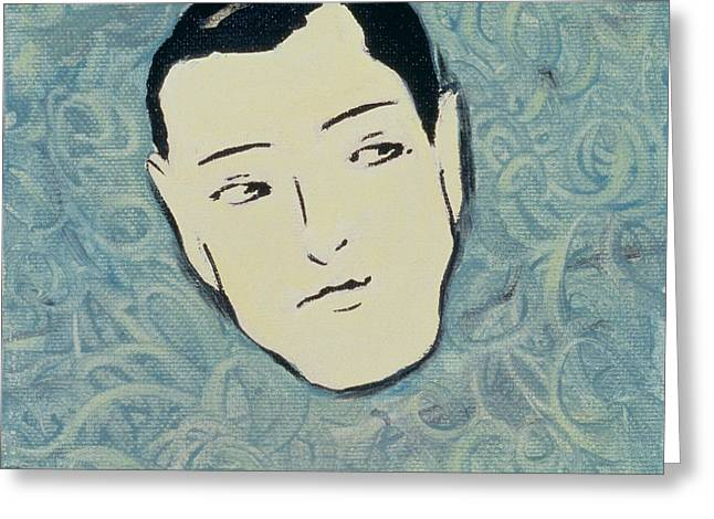 Face Greeting Cards - You Cant Always Trust Your Senses1, 2000 Greeting Card by Marjorie Weiss