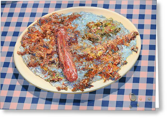 Sausages Greeting Cards - You cant eat paint Greeting Card by James W Johnson