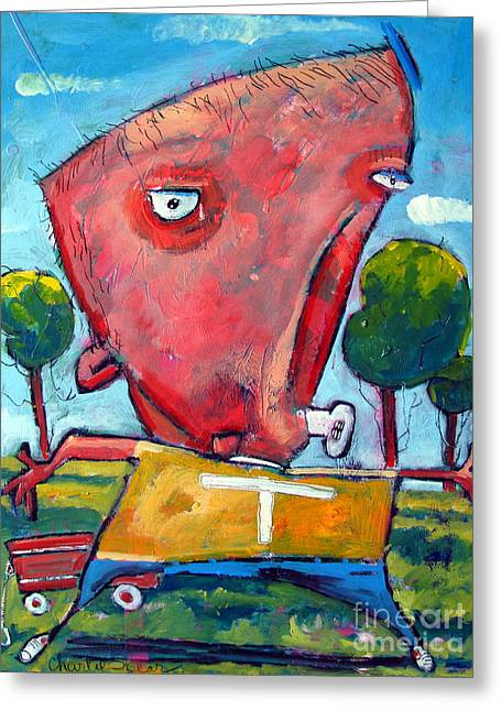Retribution Greeting Cards - You Cant Hurt Me My Name Is Timmy UNLEASHED SERIES No 2 Greeting Card by Charlie Spear