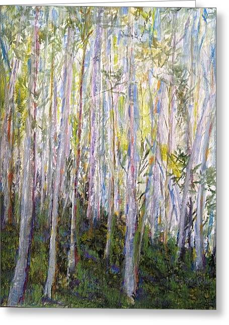 Jo Anne Neely Gomez Paintings Greeting Cards - You Cant See the Forest for the Trees Greeting Card by Jo Anne Neely Gomez