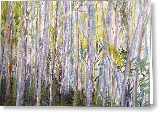 You Can't See the Forest for the Trees Greeting Card by Jo Anne Neely Gomez