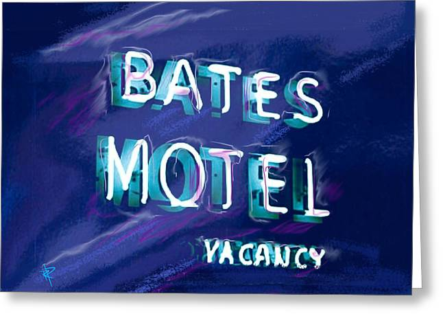 Bates Motel Greeting Cards - You Check in But You Dont Check out Greeting Card by Russell Pierce