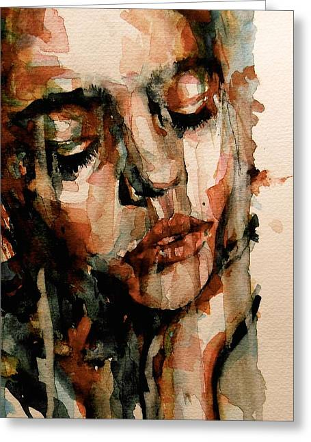 Torn Paintings Greeting Cards - You Ditch It All To Stay Alive A Thousand Kisses Deep Greeting Card by Paul Lovering