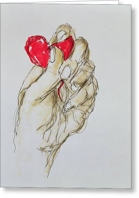 Squeeze Greeting Cards - You Gave Me Your Heart, 1996 Greeting Card by Stevie Taylor