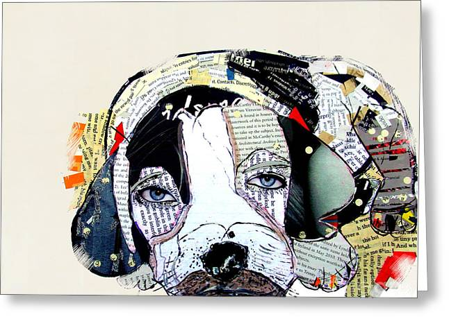 Dog Prints Mixed Media Greeting Cards - You Got A Friend  Greeting Card by Bri Buckley