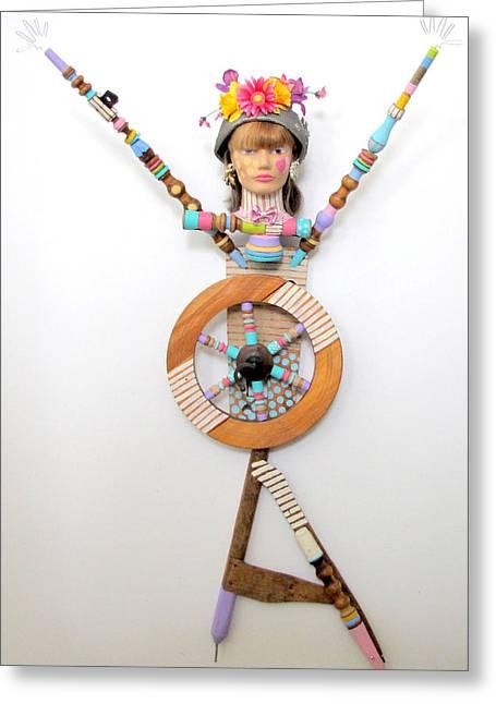 Sculpey Greeting Cards - You Got Me Spinnin Greeting Card by Keri Joy Colestock