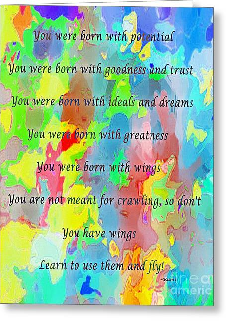 Barbara Griffin Greeting Cards - You Have Wings Greeting Card by Barbara Griffin