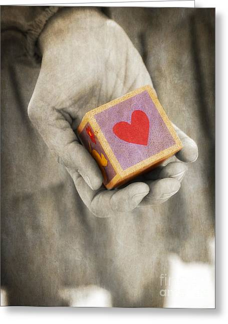 Dated Greeting Cards - You hold my heart in your hand Greeting Card by Edward Fielding