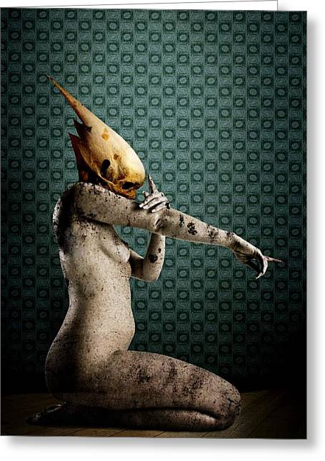 Bizarre Digital Art Greeting Cards - You Greeting Card by Johan Lilja