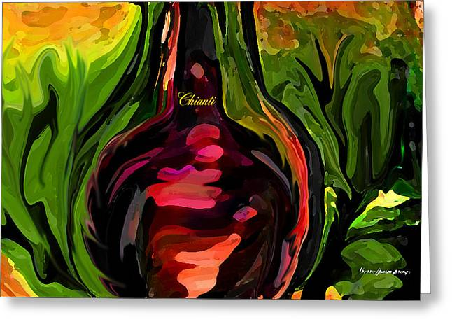 You Me And Chianti In The Garden Greeting Card by Sherri  Of Palm Springs