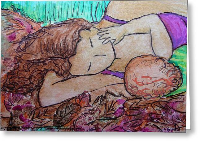 You Me And The Autumn Leafs Greeting Card by Gioia Albano