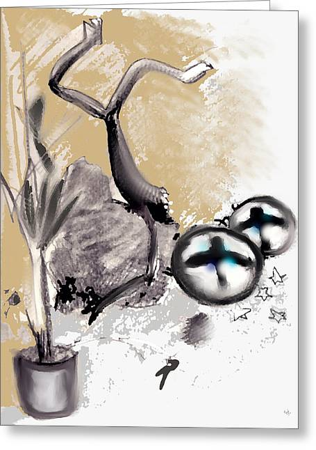 Knocking Digital Art Greeting Cards - You Might Fall Seven Times Greeting Card by Marcello Cicchini