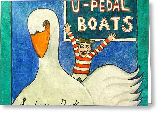 Asbury Park Paintings Greeting Cards - You Pedal Tillie Greeting Card by Patricia Arroyo
