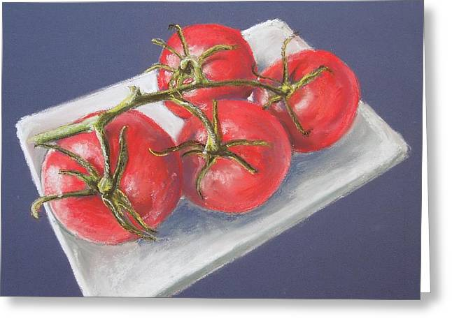 Tomato Pastels Greeting Cards - You say Tomato I say Tomato Greeting Card by Dianne  Ilka
