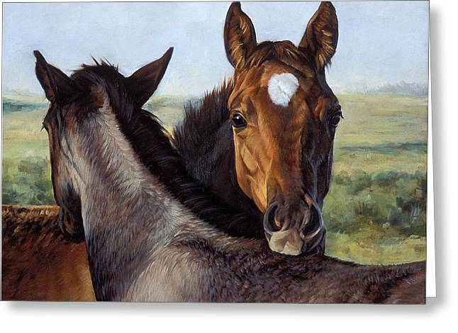 Saddle Greeting Cards - You Scratch Mine Greeting Card by JQ Licensing