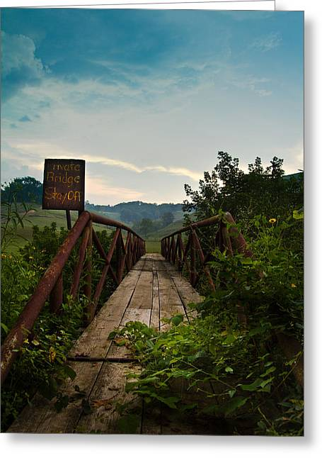 Bridge Greeting Cards - You Shall Not Pass Greeting Card by Shane Holsclaw