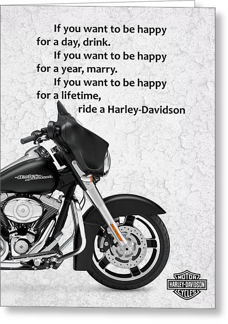 Motorcycles Greeting Cards - You Want To Be Happy 4 Greeting Card by Mark Rogan