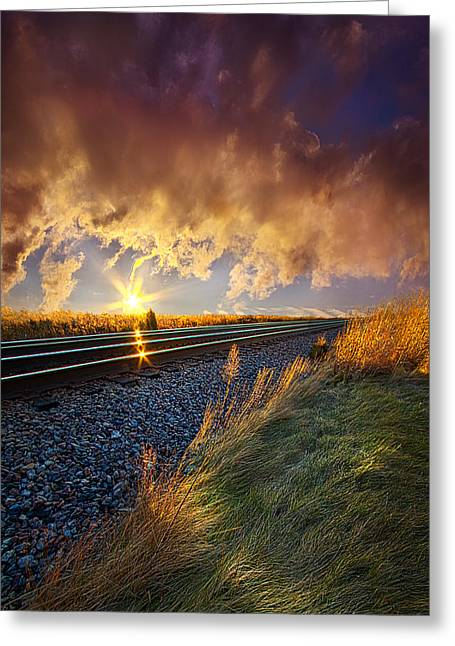 Sunrise Greeting Cards - You Will Never Walk Alone Greeting Card by Phil Koch