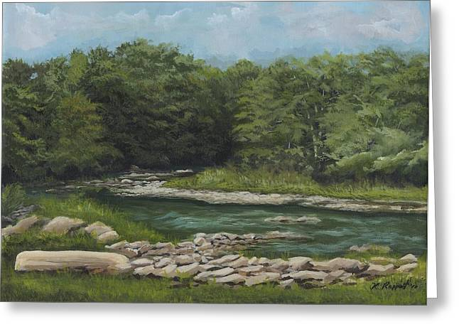 Babbling Paintings Greeting Cards - Youghiogheny River Greeting Card by Ken Messinger-Rapport