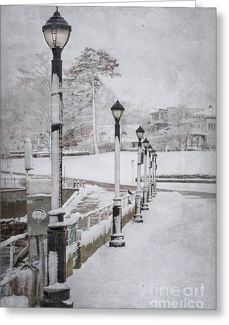 New England Winter Greeting Cards - Youll Never Walk Alone Greeting Card by Evelina Kremsdorf