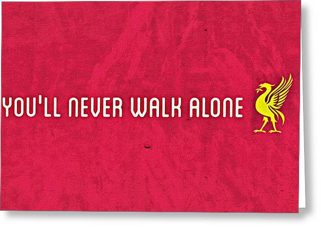 Never Alone Greeting Cards - Youll Never Walk Alone Greeting Card by Florian Rodarte