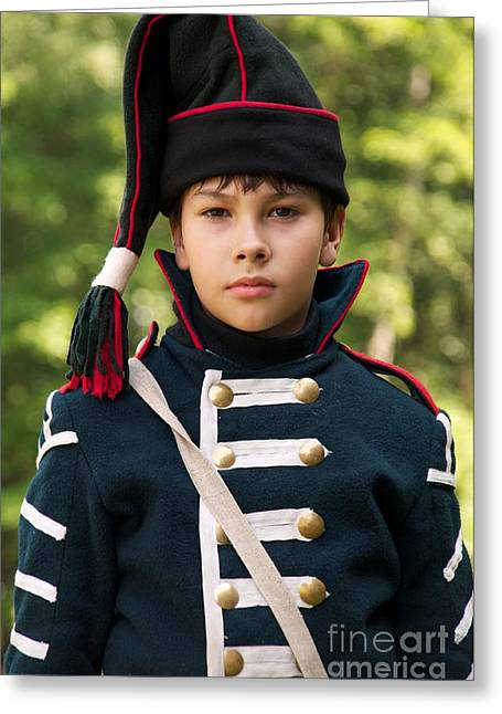 Historical Re-enactments Greeting Cards - Young arilleryman Greeting Card by Aleksey Tugolukov