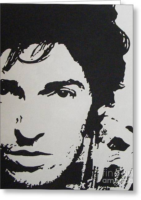 Bruce Springsteen. Greeting Cards - Young Boss Greeting Card by ID Goodall