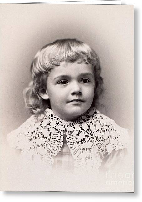 Douglass Greeting Cards - Young Boy 1888 Greeting Card by Granger