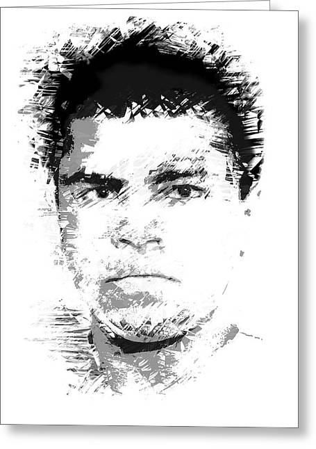Heavyweight Digital Art Greeting Cards - Young Cassius Clay Greeting Card by Daniel Hagerman