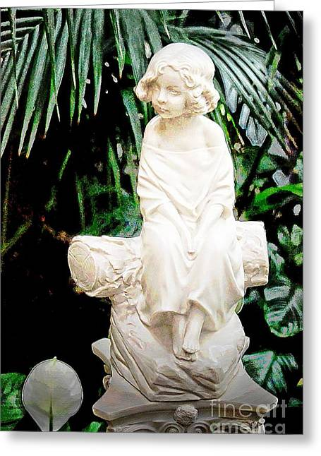 Struckle Greeting Cards - Young Child Statue Greeting Card by Kathleen Struckle