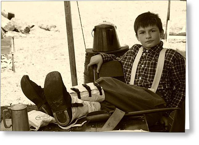 150th Commemoration Greeting Cards - Young Confederate Soldier - Richmond KY Greeting Card by Thia Stover