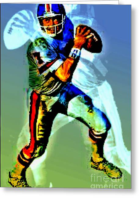 Elway Greeting Cards - Young elway Greeting Card by M and L Creations