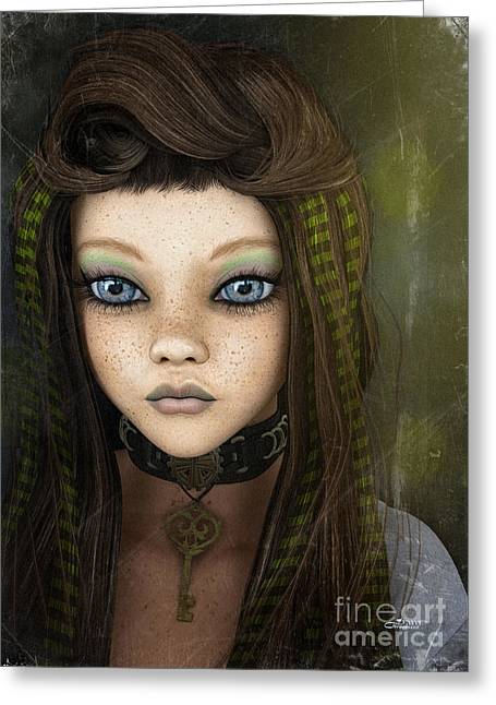 Young Teen Greeting Cards - Young Girl Greeting Card by Jutta Maria Pusl