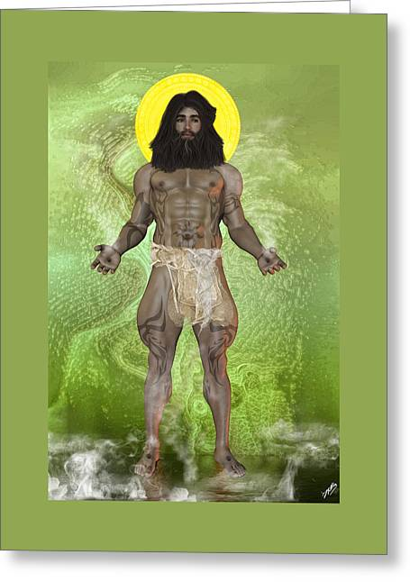 Omnipotent Greeting Cards - Young God By Quim Abella Greeting Card by Joaquin Abella