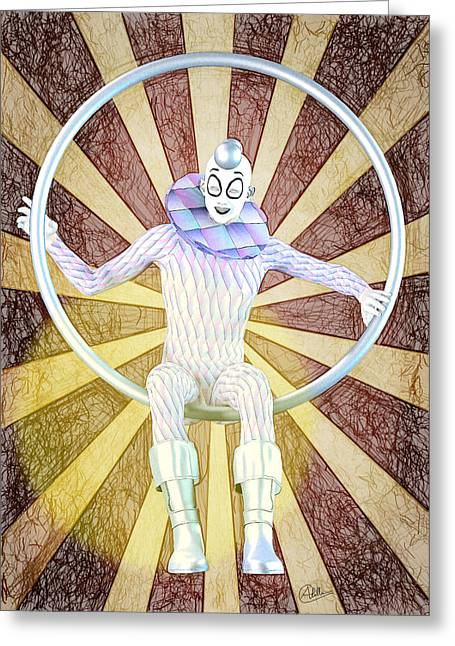 Pierrot Greeting Cards - Young Harlequin Greeting Card by Joaquin Abella