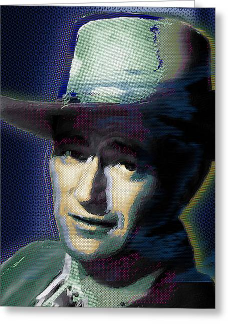 Academy Awards Oscars Greeting Cards - Young John Wayne Pop 1 Greeting Card by Tony Rubino