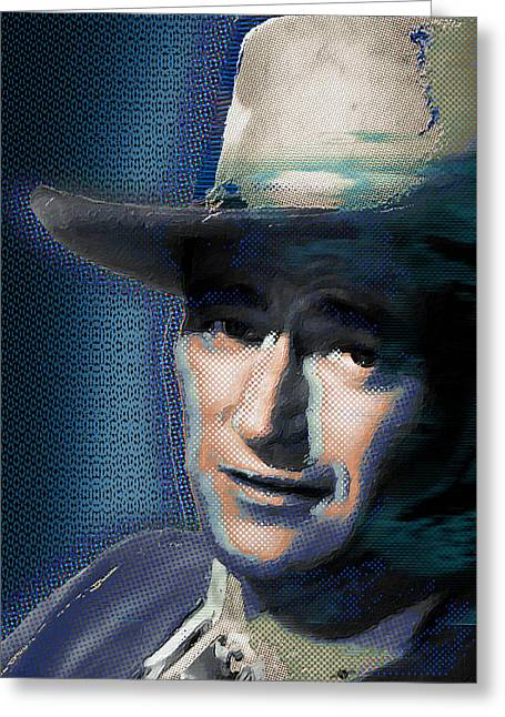 Academy Awards Oscars Greeting Cards - Young John Wayne Pop 2 Greeting Card by Tony Rubino