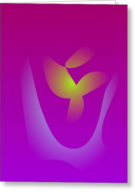 Gradations Digital Art Greeting Cards - Young Leaf Greeting Card by Masaaki Kimura