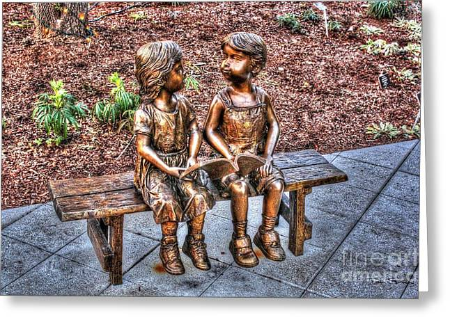 First Love Greeting Cards - Young Love Greeting Card by Dan Stone