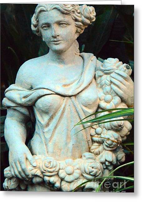 Struckle Greeting Cards - Young Maiden Statue Greeting Card by Kathleen Struckle