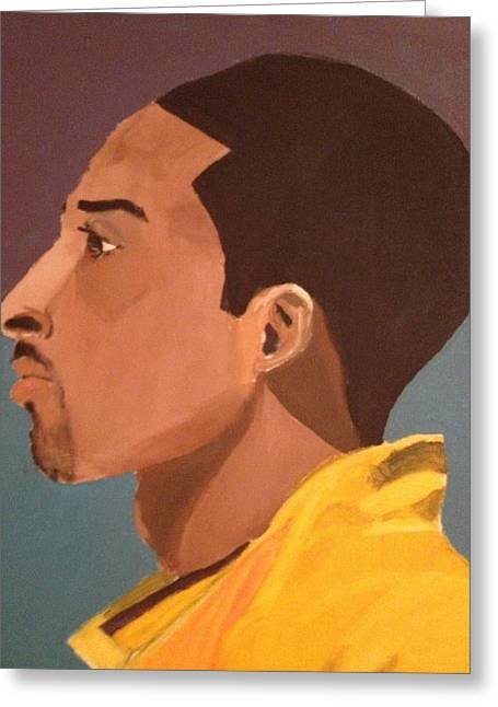 La Lakers Paintings Greeting Cards - Young Mamba Greeting Card by Brandon King
