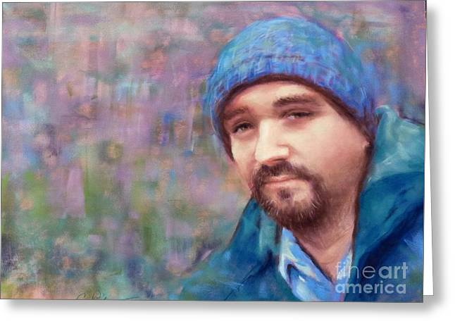 Award Pastels Greeting Cards - Young Man on the Verge Greeting Card by Cynthia Pierson