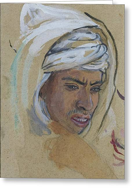 Jihad Greeting Cards - Young Man With A Burnous Greeting Card by Celestial Images