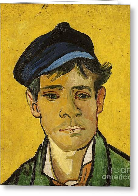 Van Gogh Cards Greeting Cards - Young Man with a Hat Greeting Card by Vincent Van Gogh