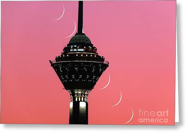 Tehran Greeting Cards - Young Moon Greeting Card by Babak Tafreshi