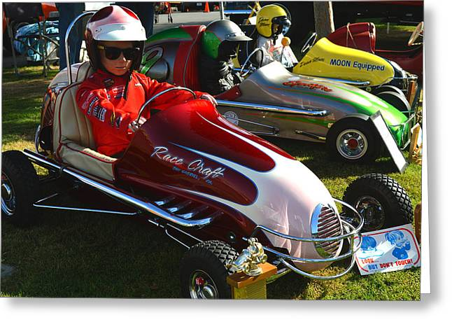 Wild Racers Greeting Cards - Young Racers Greeting Card by Bill Dutting