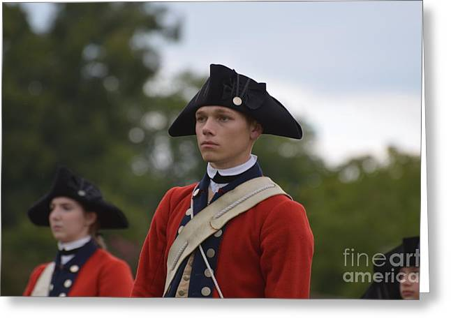 Colonial Actors Greeting Cards - Young Soldiers in Colonial Williamsburg Virginia Greeting Card by DejaVu Designs