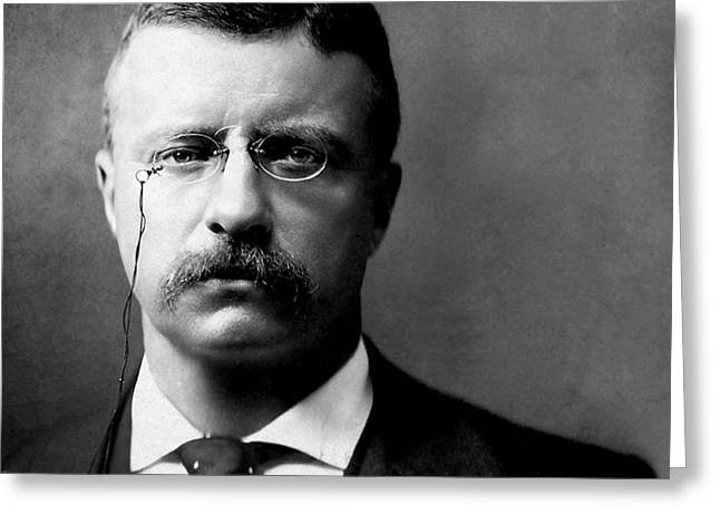 Bully Digital Greeting Cards - Young Theodore Roosevelt Greeting Card by Bill Cannon